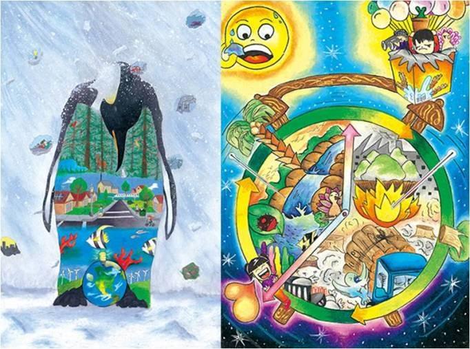 儿童环保与绘画